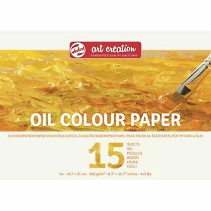 Talens Art Creation Oil Colour Paper Pad 15 Sheets A4