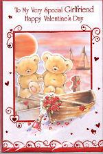 Cartolina di San Valentino per fidanzata. per la mia ragazza molto particolare. carta Carini.