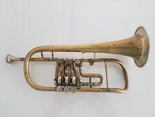 Antike Trompete ? Flügelhorn ? Josef Rauscher mit Mundstück Miraphone 5 - B