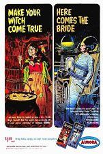 Aurora Monster Kits 1965 The Witch & Bride Of Frankenstein Sticker or Magnet