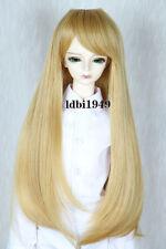 "1/3 8-9"" Bjd Wig Dal Pullip BJD SD LUTS DD DOD Dollfie Doll Blonde Straight wig"