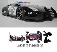 Fully Custom 1/10 Scale Remote Control On-road Lamborghini Murcielago police