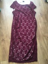 Maternity Dress Size 16 Red Lace Formal Dorothy Perkins