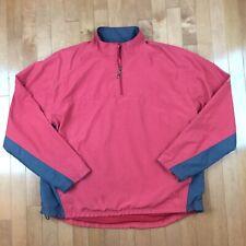 Pga Tour Men's Burgundy Pullover Golf Jacket Size Medium M Long Sleeve