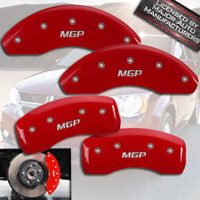 2012-2015 Fiat 500 Abarth Front + Rear Red Engrave MGP Brake Disc Caliper Covers