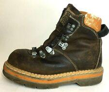 VTG Steve Madden Industrial ECOLOGIC Ankle Grunge Boots Leather Hiking US 6.5
