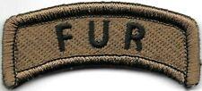 Marron Noir 101st Airborne Division De Languette Patch hook & loop tape Crochet