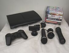 PS3 CONSOLE 500GB BLACK PAL + 7 TOP GAMES MOVE CONTROLLER+MOVE CAMERA+MICROPHONE
