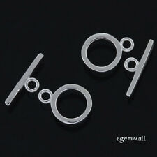 2 Sets of Sterling Silver Simplicity Toggle Clasp 8mm #51182