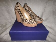 Stuart Weitzman CORKSWOON high platform wedge pumps NEW size11 leopard