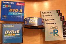 DVD-R DVD+R Discs FujiFilm  4.7 GB 120 min Printable Jewel Cases Lot of 56
