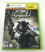 Fallout 3 : Game Add-On Pack (The Pitt/ Operation Anchorage) Xbox 360 Tested