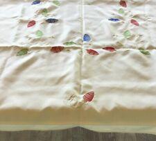 "50"" x 65"" Rectangle Embroidered Christmas lights Tablecloth"
