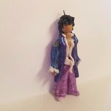 PRINCE Raspberry Beret CHRISTMAS ORNAMENT Blue Cloud Pant Suit Hand Made Polymer Clay OOAK