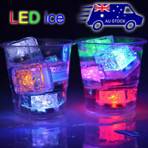 12x  Ice Cube Sensor LED Light Lighting Party Wedding Venue XMAS Glow in water