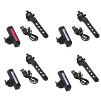 100 LM COB LED Bicycle Bike Cycling Rear Tail Light Safety Lamp USB Rech DFX
