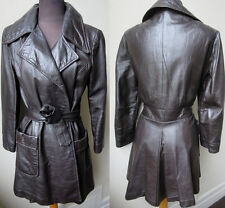 """70's Vtg. Awesome """"Wilson's"""" Fly Deluxe Mod Leather Self Sash Belt Jacket"""