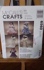 "Oop Mccalls Crafts 6560 13-16"" doll clothes pattern Victorian bridal dresses NEW"