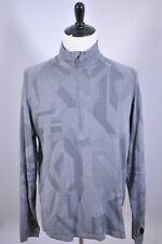 Lululemon Metal Vent 1/2 Zip Pullover Gray Print Men's XL