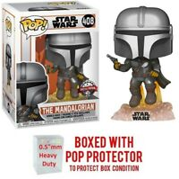 Funko POP! Star Wars #408 - The Mandalorian [Flying with Blaster] Exclusive MINT