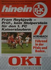 Programm UEFA Cup 1992/93 FC Kaiserslautern - Fram Reykjavik