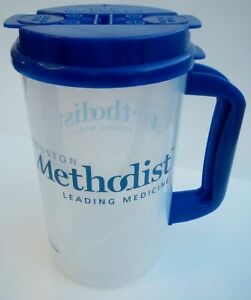 Erlanger Plastic Insulated Clear Thermo 32oz Mug Bendable Straw /& Blue Lid