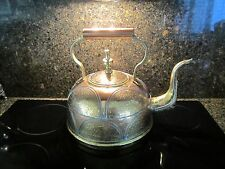 Antique Asian Copper & Brass Water Kettle from Middle East