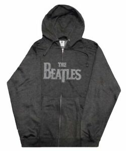 The Beatles Hoodie Band Logo Apple patch Applique Official Mens Black Pullover