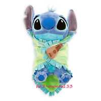 "Official Baby Stitch Plush Doll with Blanket Lilo & Stitch Soft  Toy 10"" Gift"
