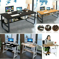 Wood Computer Desk PC Laptop Study Table Workstation Home Office Furniture Desk