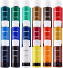 SPREEY Acrylic Paint Set of 18 Colors Large 18x59ml
