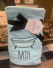 Rae Dunn by Magenta - Set of 2 Hand Towels - Tiffany Blue - BATH