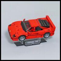 Ferrari F40 acrylic display stand for LEGO model 10248