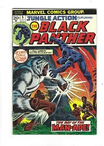 Jungle Action #5 1st Black Panther Solo Series,  8.5 VF+, Marvel