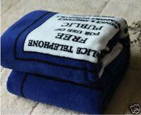 Nice Doctor Who Dr TARDIS Police Box Throw Blanket Coral Velvet Carpet