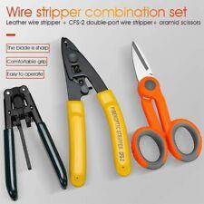 3 pack CFS-3 Fibre Stripper,  Leather Cable Stripper and  Scissors (Fiber kit)