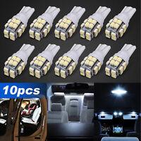 10 x Super Bright T10 SMD LED White Interior Light Bulb 194 168 2825 W5W 6000K
