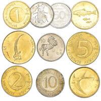 MIXED LOT 10 SLOVENIAN COINS SLOVENIA OLD COINS STOTINOV, TOLARJEV 1992-2006