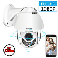 1080P IP Security Camera System Home 2-Way Audio Dome WiFi Outdoor Wireless PT