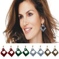 1 Pair Fashion Women Acrylic Geometric Dangle Earrings Statement Jewelry Gift