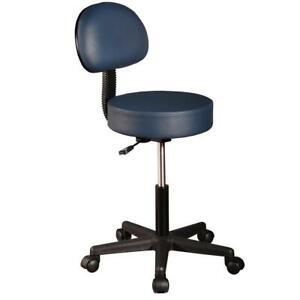 Master Massage Rolling Salon Swivel Adjustable Stool with Backrest