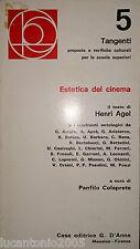 HENRI AGEL ESTETICA DEL CINEMA TANGENTI D'ANNA 1973 A CURA DI PANFILO COLAPRETE