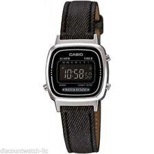 Casio LA670WL-1B Ladies Black Digital Watch Fabric Band Digital Retro New