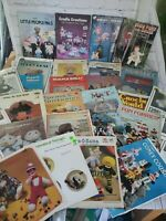 Vintage Soft sculpture doll & animal toys plush pattern books leaflets  lot - 30