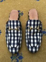 Gucci Womens Shoes Gingham Princetown Loafer Slipper UK 3 US 5 EU 36 Mule Ladies