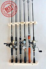 fishing rod racks 6 Storage easy wall handmade wood sportsman hunting holder
