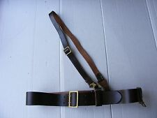 VINTAGE MILITARY GERMAN WWII WW2 LEATHER BELT & STRAP FOR LUGER P08