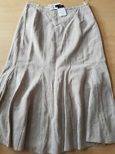 Cotton & Linen Midi Skirt Size 16 From M&Co