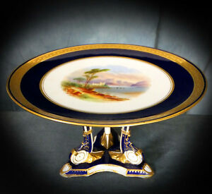 LOVELY HAND PAINTED & GILDED 19th. CENTURY AYNSLEY COMPORT