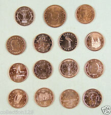 Europe Euro Coins of 15 Countries AU-UNC